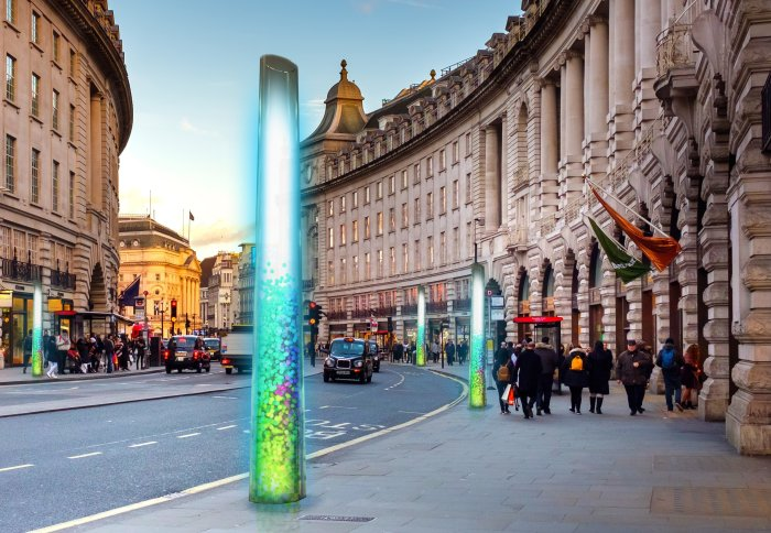 How Pluvo could look on Regent Street