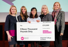 A student who has developed a revolutionary way to tackle drugs counterfeiting has won Imperial's flagship competition for women entrepreneurs.