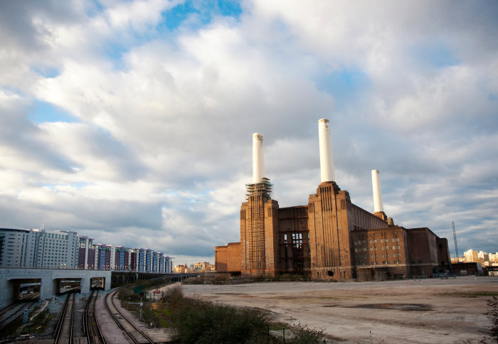 Battersea power station after its closure