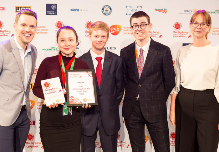 Imperial intern named GSK Young Scientist of the Year 2018