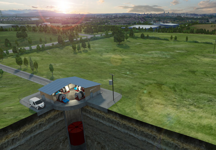 Artists impression of a Gravitricity installation