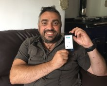 Veteran Harris Tatakis with the 'Levo' app