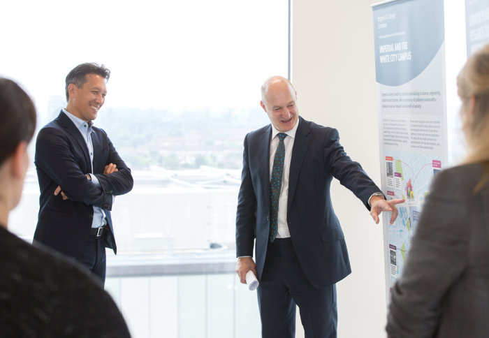 Dirk Hoke, CEO of Airbus Defence and Space, with Professor David Gann CBE, Vice President (Innovation) at Imperial