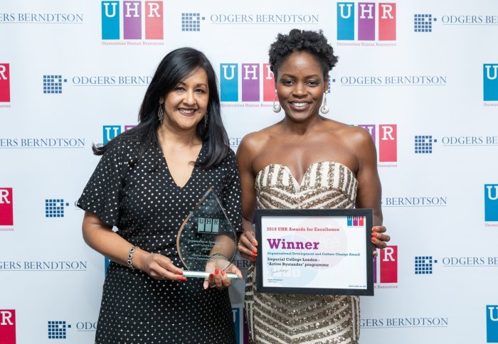 Staff collect UHR award