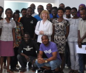 Professor Dallman visited the African Institute of Mathematical Sciences in Ghana