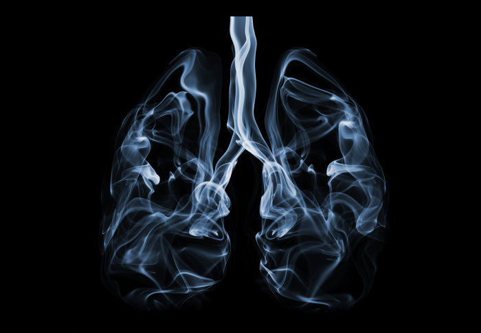 Smoke filled lungs