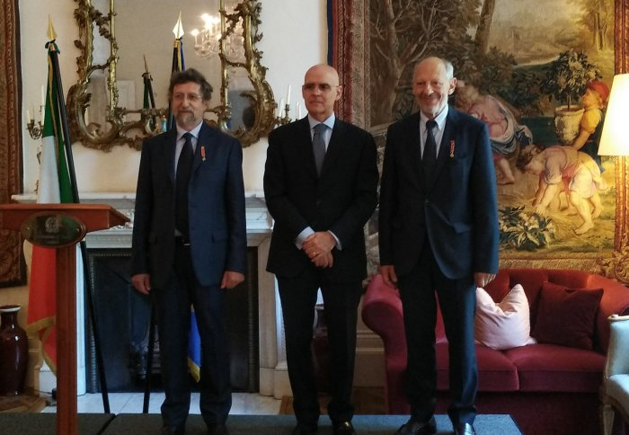 School of Public Health Professors given Italian honours at ceremony in London