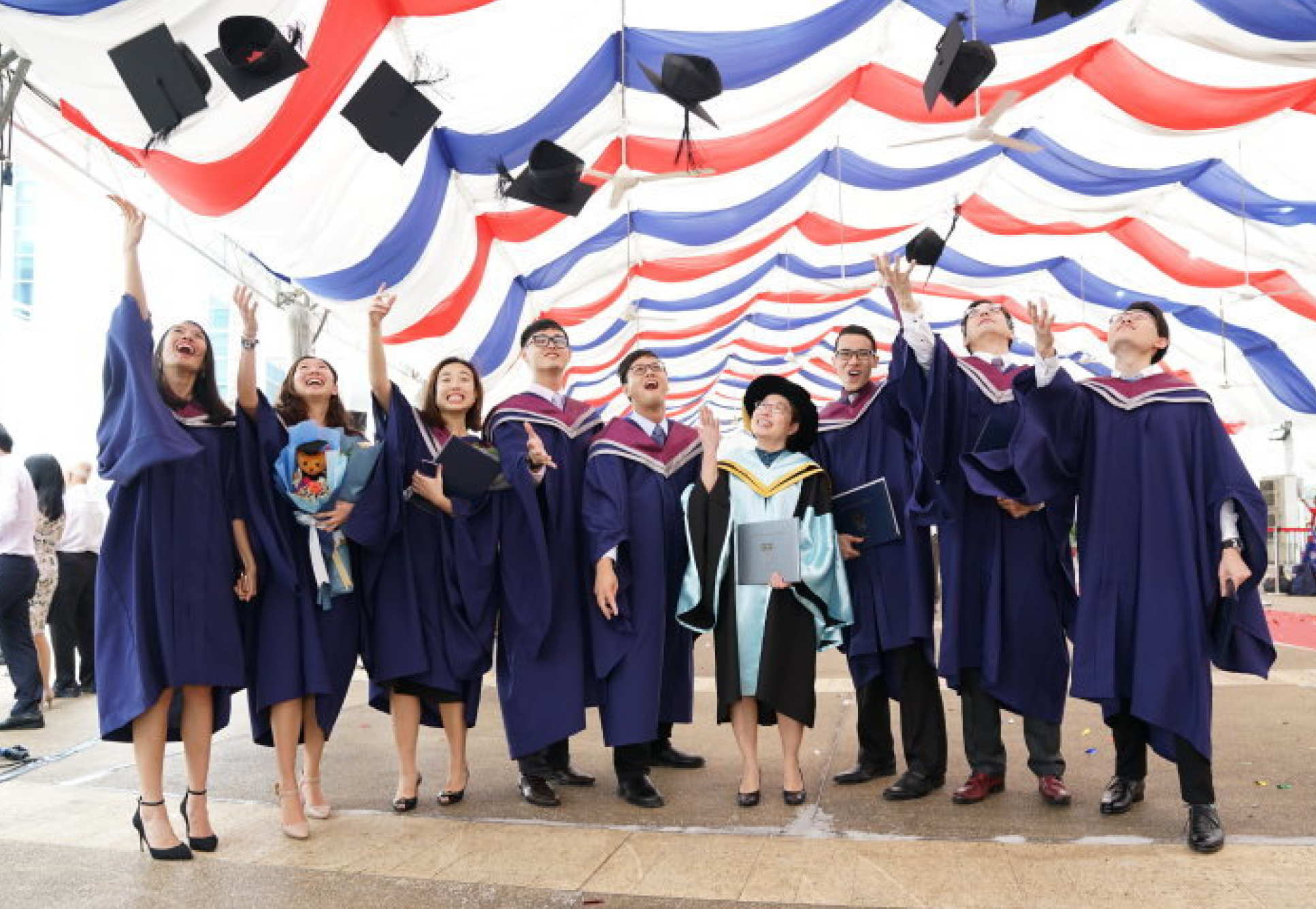 First ever graduates of the Lee Kong Chian School of Medicine