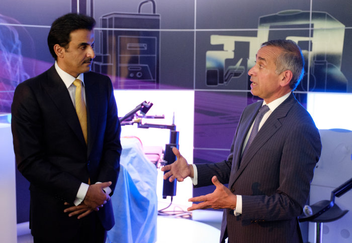 Emir of Qatar discusses health innovation during Imperial visit