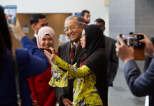 The Prime Minister of Malaysia Tun Dr Mahathir bin Mohamad met students, academics and collaborators at Imperial today.