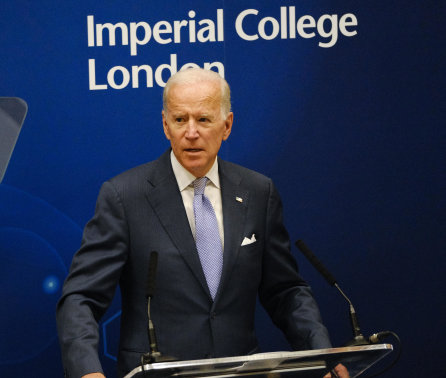 Joe Biden delivers inaugural cancer research lecture at Imperial