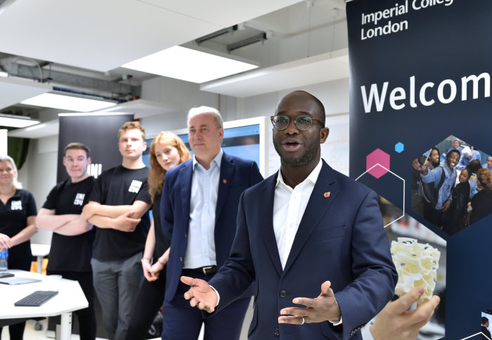 Universities and Science Minister Sam Gyimah MP speaks to attendees