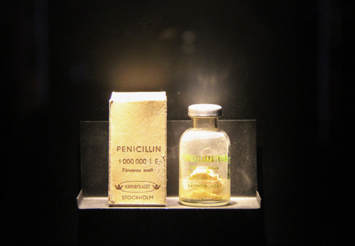 One of the first bottles of penicillin