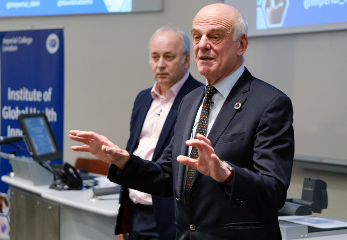 Dr David Nabarro delivering his lecture