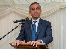 Lord Darzi speaking at the event