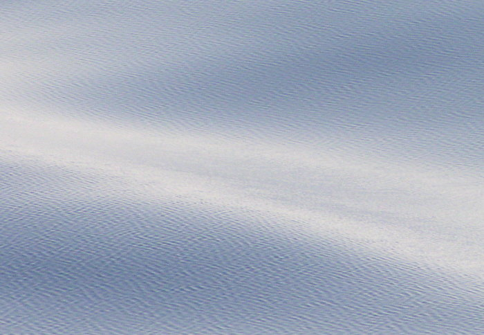 Smaller-scale ripples seen on the surface of a wavy sea
