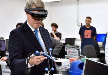 New Universities Minister tries his hand at augmented reality surgery