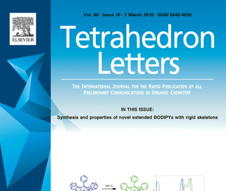 Feb 2019 - Article in Tetrahedron Lett. Published