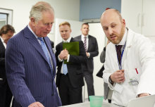 The Prince of Wales sees new solution to plastic pollution at White City Campus