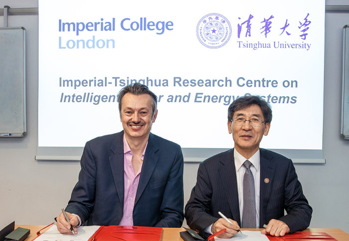 Professor NIgel Brandon with Vice President Qikun Xue, Vice President for Research, Tsinghua University