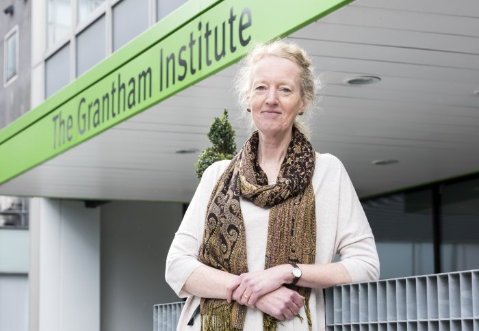 Jo Haigh in front of the Grantham Institute