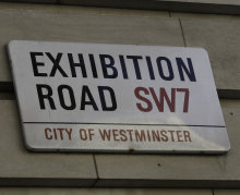 Exhibition Road street sign