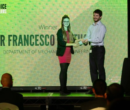 Student Wellbeing Champion Award for Mech Eng researcher