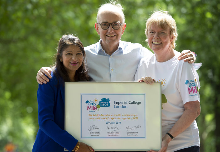 Professor Sonia Saxena, Dr Peter Williams and Elaine Wyllie MBE