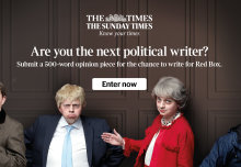 Student wins competition to write for The Times flagship political blog