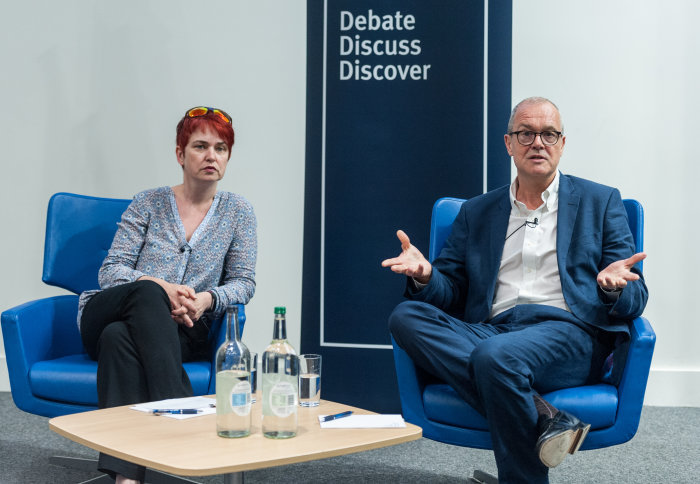 Sir Patrick Vallance and Professor Mary Ryan at Q&A session