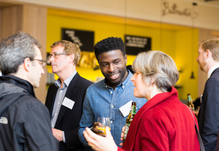 Researchers and representatives of technology-led businesses meet at a Deep Tech Network event