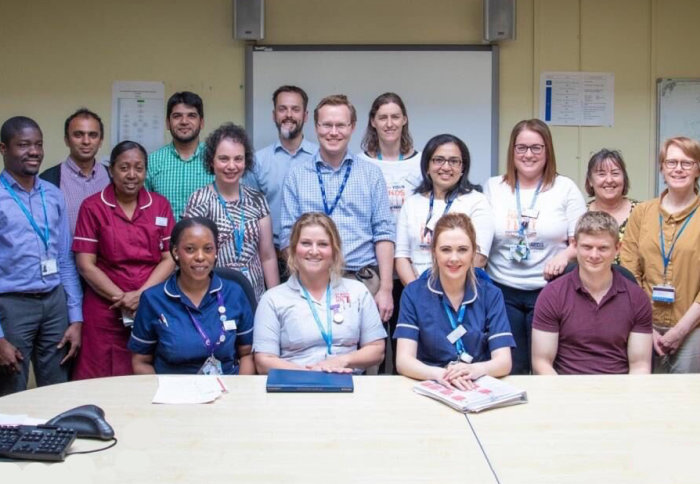 The Sepsis Big Room team at St Mary's Hospital