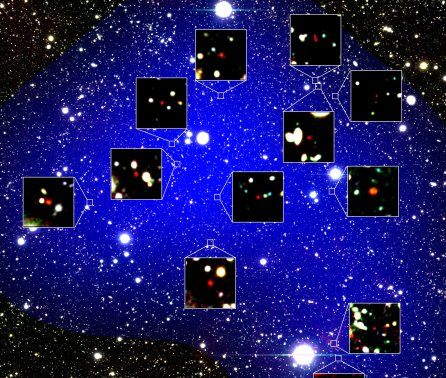 Earliest cluster of forming galaxies discovered 13 billion light-years away