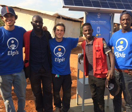 "Solar-powered charging stations provide ""lifeline"" to migrants"