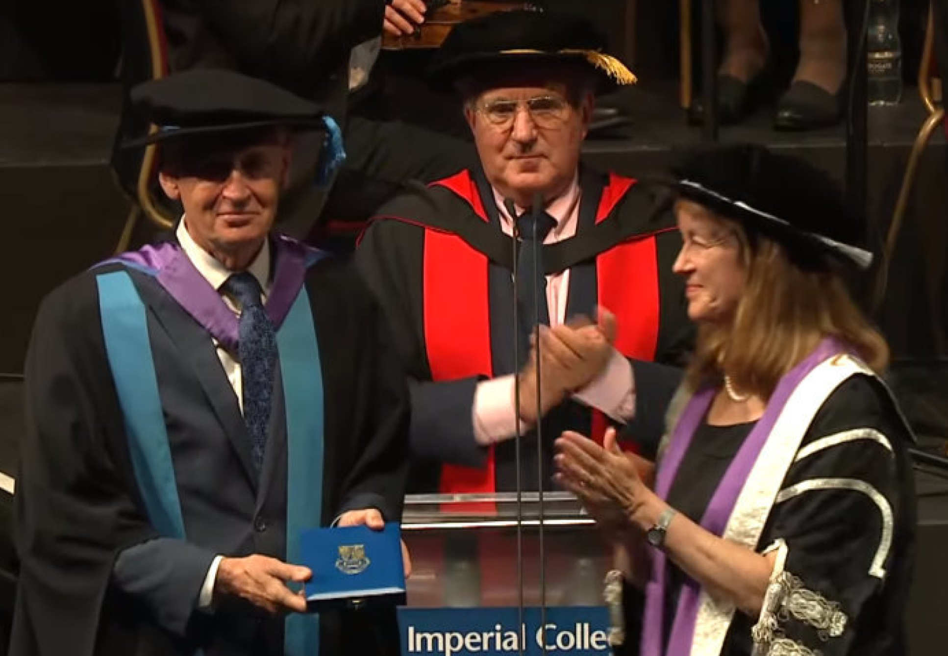 Professor James Best presented with an Imperial College Medal by President Alice Gast