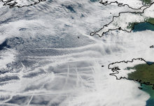 Satellite tracking shows how ships affect clouds and climate