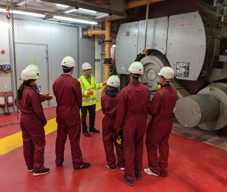First year students visit campus power station