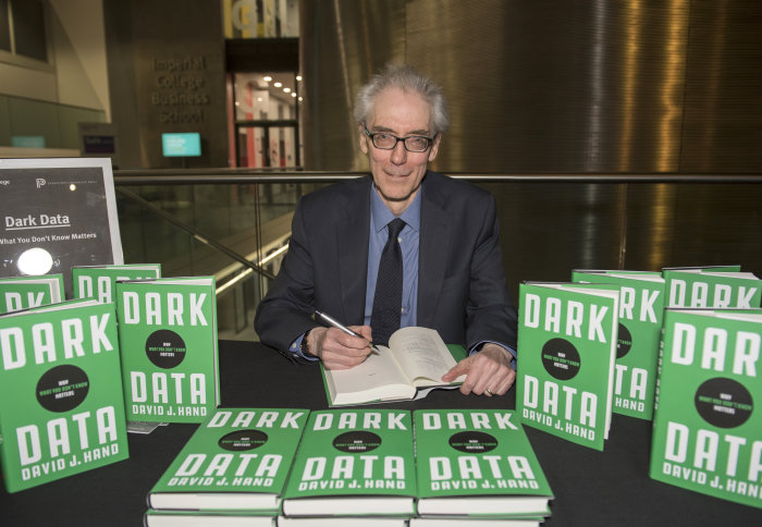 Professor David Hand at the launch of his book, Dark Data