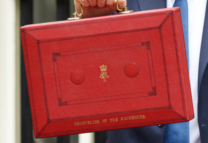 Red box carrying the UK budget