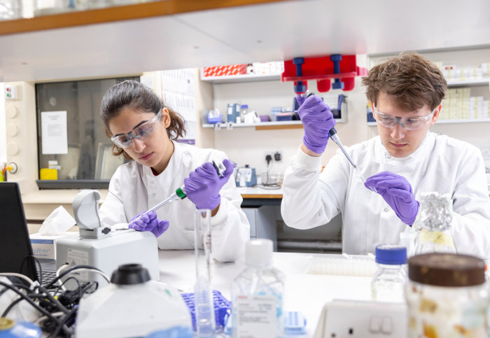 Students in labs