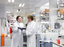 Two people in a lab