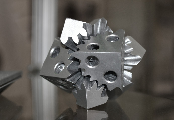 A metal object produced using additive manufacturing methods