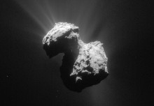 Unique ultraviolet aurora spied at comet visited by Rosetta