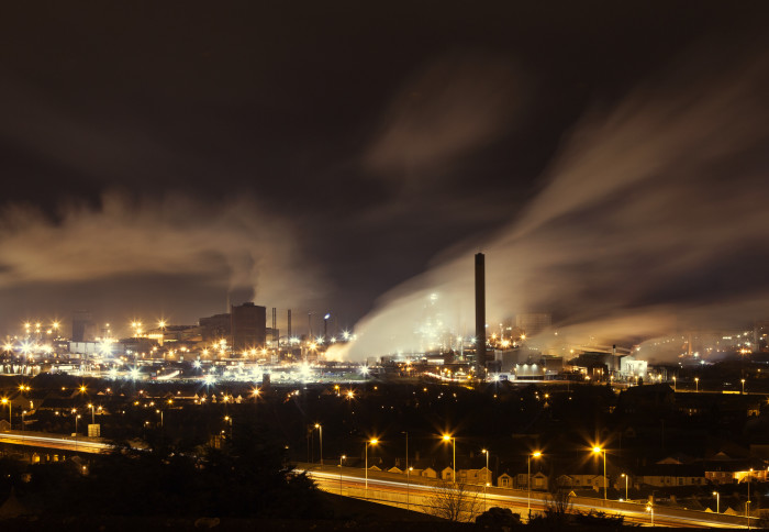 Port Talbot at night