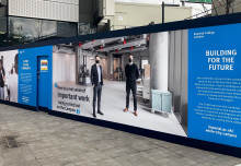 White City's new hoardings showcase Imperial's innovation community