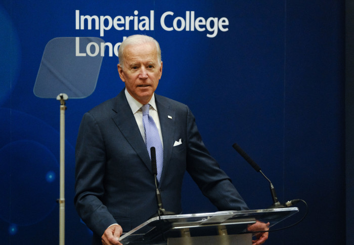 President Biden's 2018 visit to Imperial to deliver an inaugural lecture on cancer research