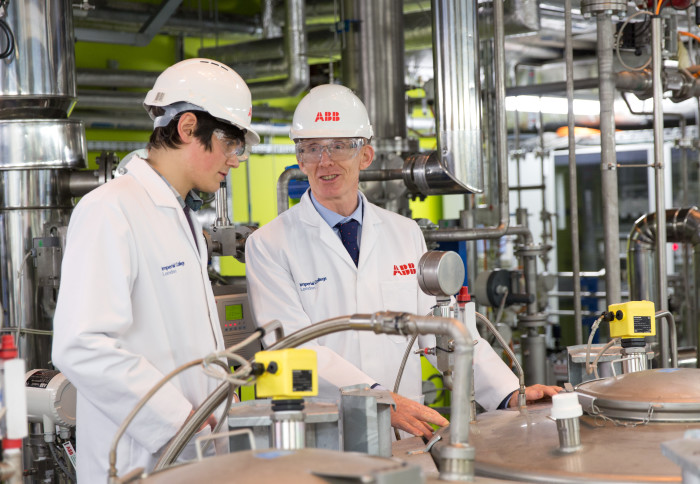 Professor Andrew Livingstone from Chemical Engineering in ABB-funded pilot plant
