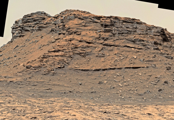 Photo of rock tower on Mars
