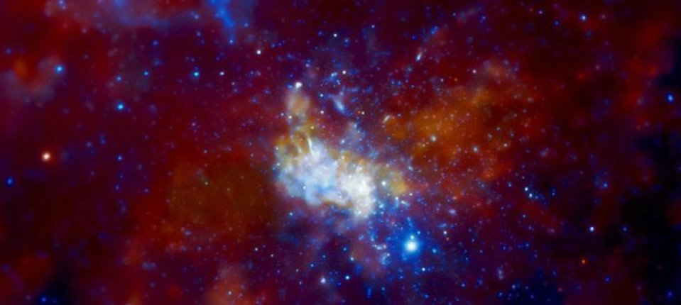 An astronomical radio source at the center of the Milky Way Galaxy (Sagittarius A*) believed to be the site of a supermassive black hole