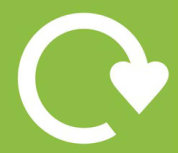 Heart recycling sign